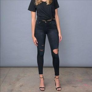 NEW Good American Good Legs Distress Jeans